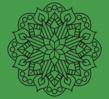 Flower and Flame Mandala Kids Clothes