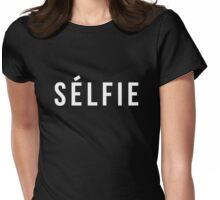 Selfie - version 2 - white Womens Fitted T-Shirt