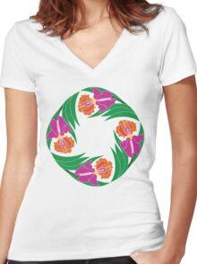 Iris Ring Women's Fitted V-Neck T-Shirt