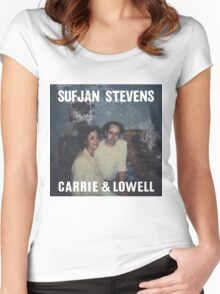 Carrie and Lowell album cover by Sufjan Stevens Women's Fitted Scoop T-Shirt