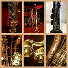 Wind Instruments Music Collage by Kathryn Jones