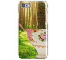 I'm a little teapot, short and stout (resized) / Ich bin ein wenig Teekanne, Kurz und dick iPhone Case/Skin