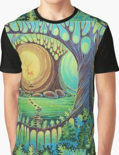 Fantasy creatures. Magic wood illustration.  Graphic T-Shirt