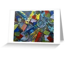 Its Complicated Modern Geometric Abstract Painting Greeting Card
