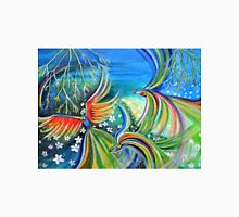 Dance of the Birds Abstract colorful painting Unisex T-Shirt