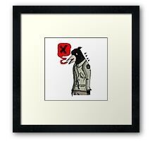 Empty Threats from the Birdman  Framed Print