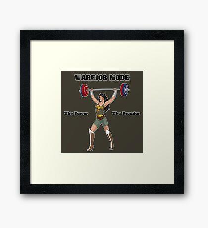 Warrior Mode (Silkies) Framed Print