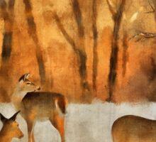 Creatures Of A Winter Sunset Sticker