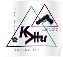 Vaporwave Precise Aesthetics Art Kevin Hu Designer 001 Poster