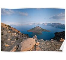 Crater Lake in the Evening Poster