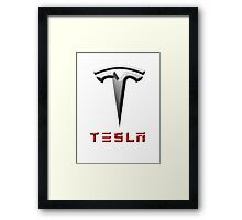 tesla motors Framed Print