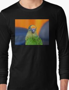 Delta - Peach-Fronted Conure - NZ Long Sleeve T-Shirt