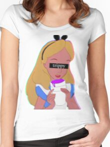 Trippy Alice Women's Fitted Scoop T-Shirt