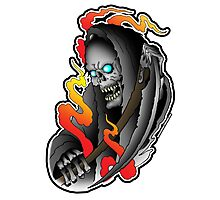 Grim Reaper tattoo Photographic Print