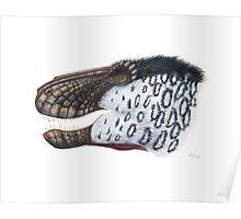 Scaly Tyrannosaurus Poster