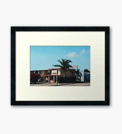 Flamingo Motel (Malibu) Framed Print