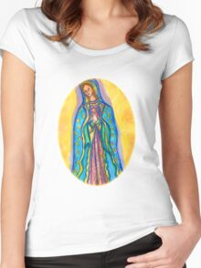 Virgin Mary Women's Fitted Scoop T-Shirt