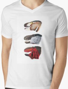 Triple rex Mens V-Neck T-Shirt