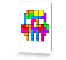 TETRIS Skull Greeting Card
