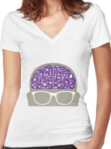 smart-data-head Women's Fitted V-Neck T-Shirt