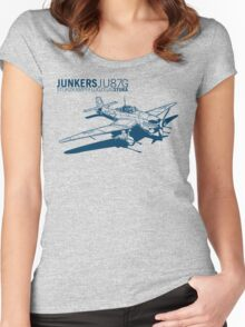 Stuka Tank Buster Women's Fitted Scoop T-Shirt