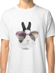 sticker-mural-lapin-lunette Classic T-Shirt