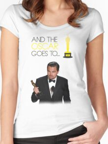Leonardo DiCaprio - Oscar Winning 2016 Women's Fitted Scoop T-Shirt