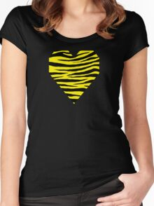 0103 Canary Yellow or Yellow (Process) Tiger  Women's Fitted Scoop T-Shirt
