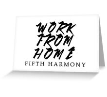 Work From Home 5H Black Greeting Card