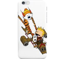captain calvin and hobbe iPhone Case/Skin