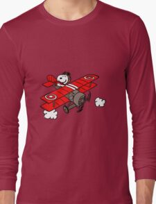 flying snoopy Long Sleeve T-Shirt