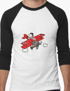 flying snoopy Men's Baseball ¾ T-Shirt