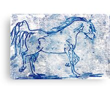 Blue Horse Canvas Print