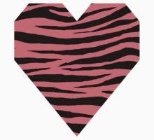 0105 Candy Pink or Tango Pink Tiger Kids Tee