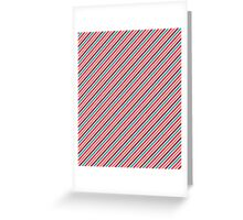 Ice Cream Thin Stripes Pattern Greeting Card