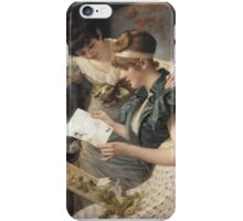 Gampenrieder, Karl - The Amusing Letter  (German, ), kingdom,queen,woman iPhone Case/Skin