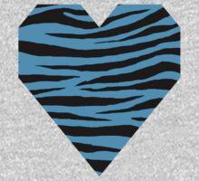 0106 Deep Sky Blue or Capri Tiger One Piece - Short Sleeve