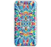 Caribbean inspired  watercolor mandala pattern iPhone Case/Skin