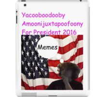 Vote for me for president of Swaziland iPad Case/Skin