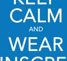 Keep Calm and Wear Sunscreen Sticker