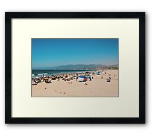 Santa Monica Beach (Los Angeles) Framed Print