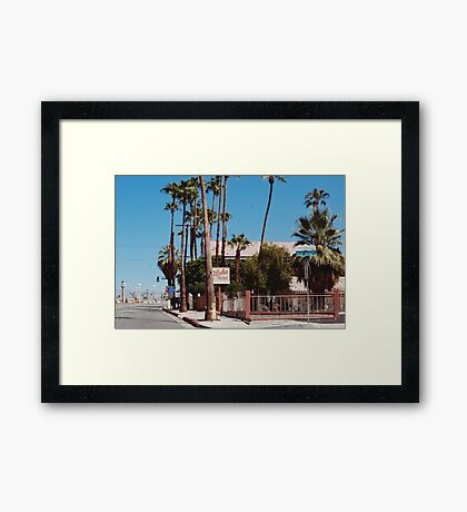 Aloha Hotel (Palm Springs) Framed Print
