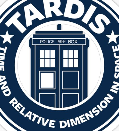 Tardis Coffee Sticker