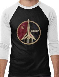CCCP Rocket Emblem  Men's Baseball ¾ T-Shirt