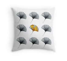 GOLDEN GINGKO Throw Pillow