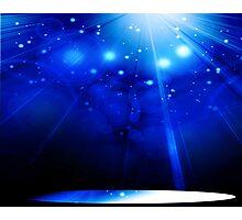 Deep Blue Space Photographic Print