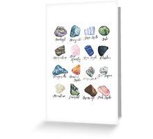 Watercolor gemstones geology print Greeting Card