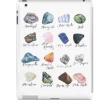 Watercolor gemstones geology print iPad Case/Skin