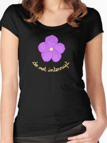 Do not Interrupt - Purple Flower Women's Fitted Scoop T-Shirt