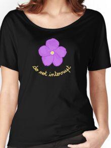 Do not Interrupt - Purple Flower Women's Relaxed Fit T-Shirt